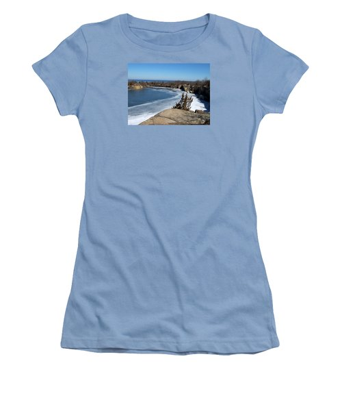 Icy Quarry Women's T-Shirt (Junior Cut) by Catherine Gagne