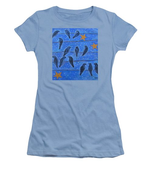 Hanging Out At Night Women's T-Shirt (Athletic Fit)