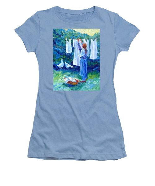 Hanging The Whites  Women's T-Shirt (Junior Cut) by Trudi Doyle