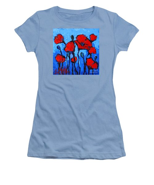 Happy Coquelicots Women's T-Shirt (Athletic Fit)