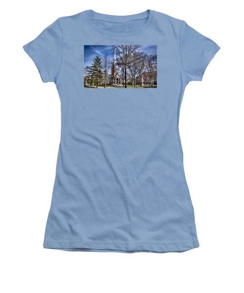 Harvard University Old Yard Church Women's T-Shirt (Athletic Fit)