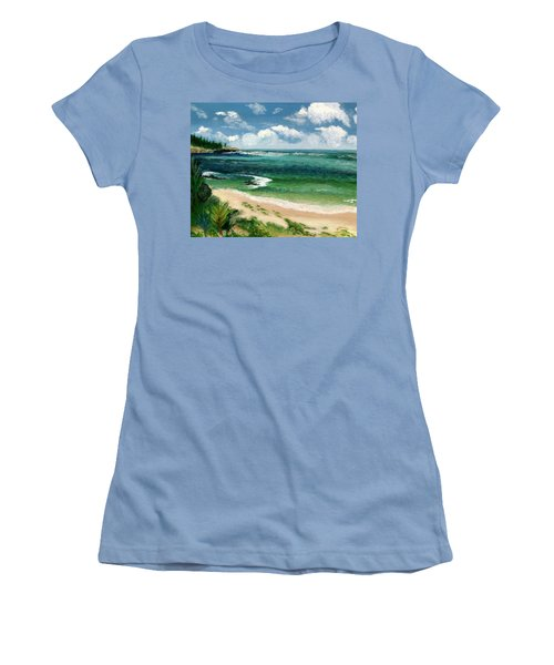 Hawaii Beach Women's T-Shirt (Junior Cut) by Jamie Frier