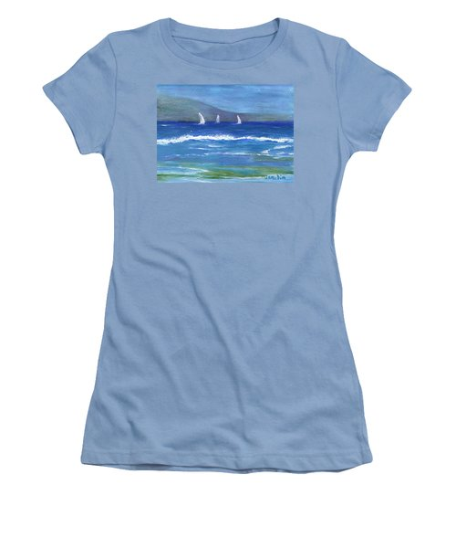 Hawaiian Sail Women's T-Shirt (Junior Cut) by Jamie Frier