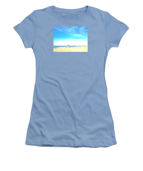 Women's T-Shirt (Junior Cut) featuring the photograph Hb Pier 7 by Margie Amberge