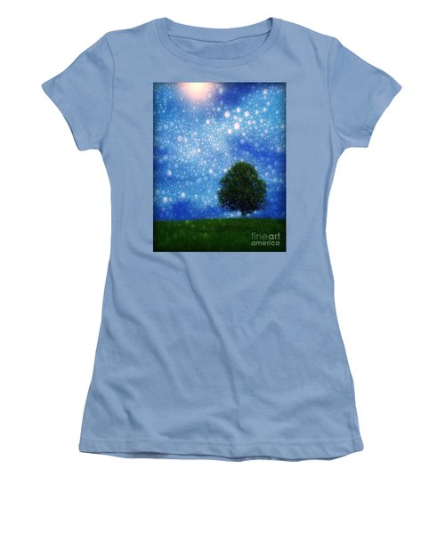 Heaven And Earth Women's T-Shirt (Junior Cut) by Rory Sagner