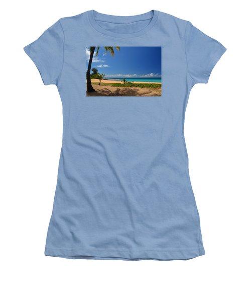 Heavenly Haena Beach Women's T-Shirt (Junior Cut) by Marie Hicks