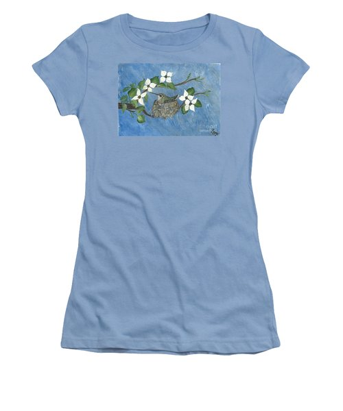 Women's T-Shirt (Junior Cut) featuring the painting Hidden Jewel by Ella Kaye Dickey