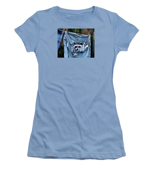 Hiding In My Jeans Women's T-Shirt (Junior Cut) by Donna Tucker