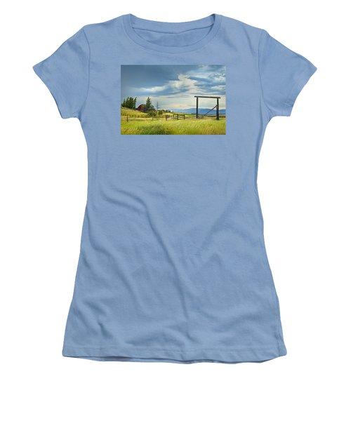 High Country Farm Women's T-Shirt (Junior Cut) by Theresa Tahara