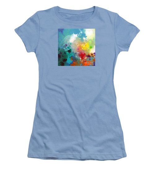 Holding The High Watch Canvas One Women's T-Shirt (Junior Cut) by Sally Trace