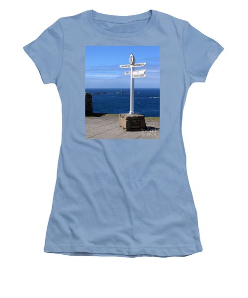 Women's T-Shirt (Junior Cut) featuring the photograph Iconic Lands End England by Terri Waters