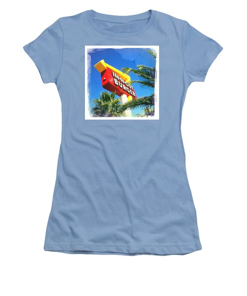 In-n-out Burger Women's T-Shirt (Junior Cut) by Nina Prommer