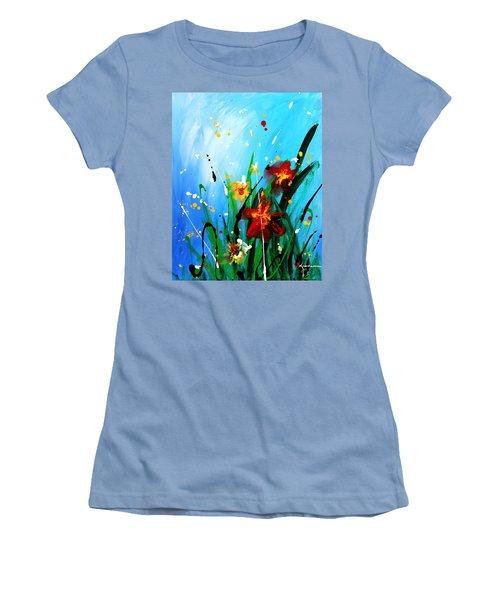 In The Garden Women's T-Shirt (Junior Cut) by Kume Bryant