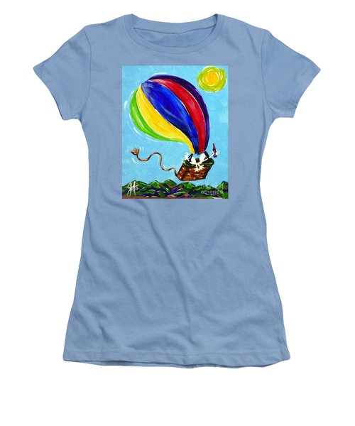 Women's T-Shirt (Junior Cut) featuring the painting Jack And Charlie Fly Away by Jackie Carpenter