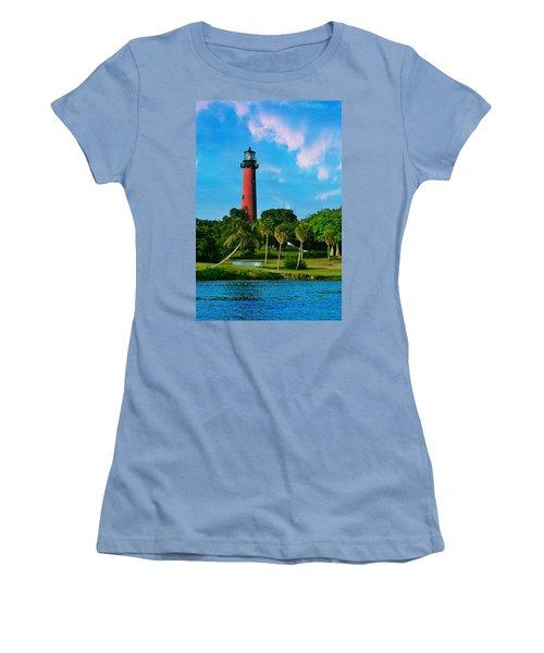 Jupiter Florida Lighthouse Women's T-Shirt (Athletic Fit)