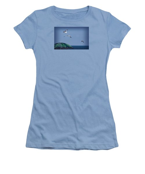 Women's T-Shirt (Junior Cut) featuring the photograph Just Another Day At The Beach by Phil Mancuso
