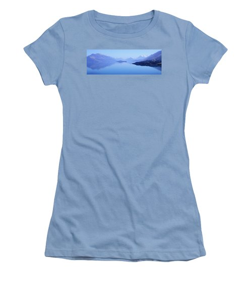 Lake Glenorchy New Zealand Women's T-Shirt (Athletic Fit)