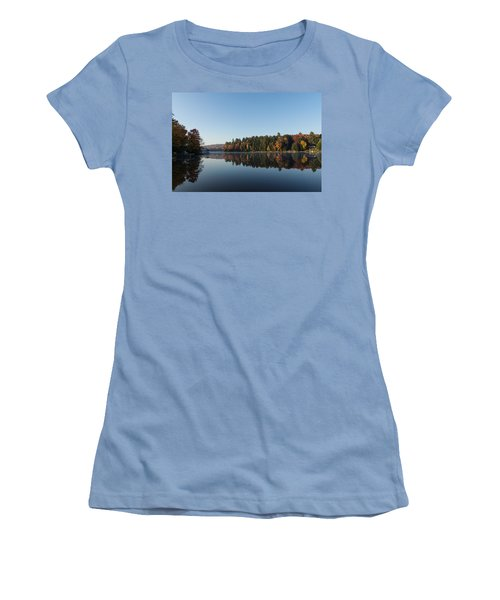 Lakeside Cottage Living - Peaceful Morning Mirror Women's T-Shirt (Athletic Fit)
