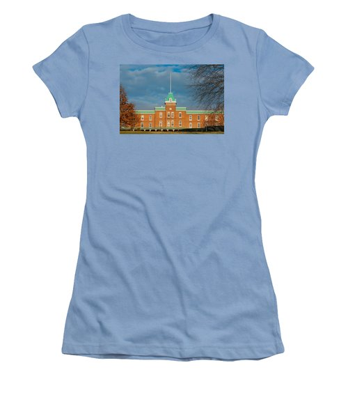 Lane Hall At Virginia Tech Women's T-Shirt (Junior Cut) by Melinda Fawver