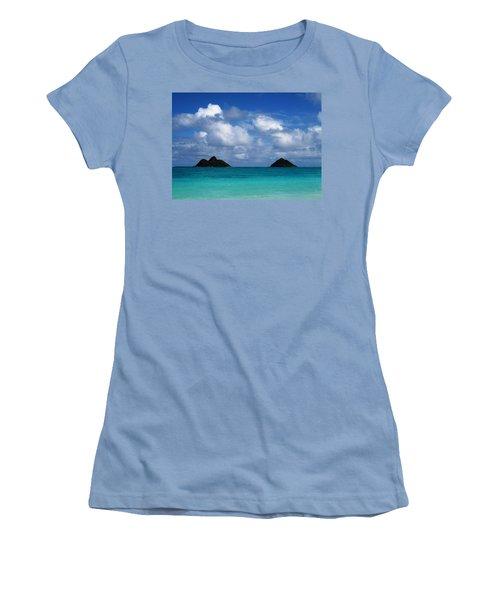 Lanikai Women's T-Shirt (Junior Cut) by Art Shimamura