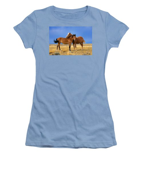 Lean On Me Wild Mustang Women's T-Shirt (Athletic Fit)