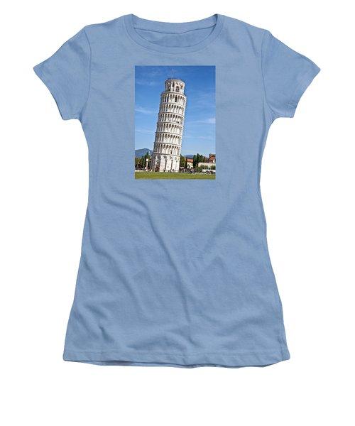 Leaning Tower Of Pisa Women's T-Shirt (Junior Cut) by Liz Leyden