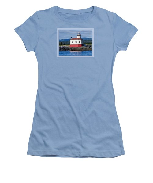 Women's T-Shirt (Junior Cut) featuring the photograph Lighthouse by Adria Trail