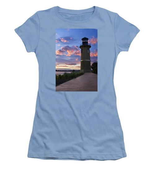 Women's T-Shirt (Junior Cut) featuring the photograph Lighthouse by Sonya Lang