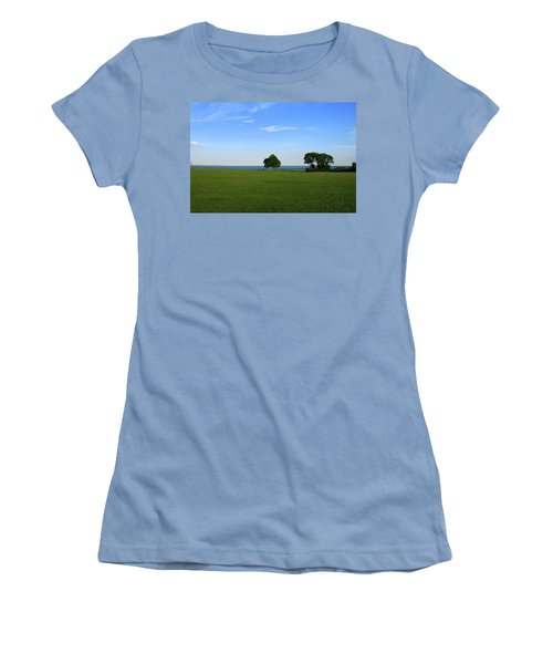 Women's T-Shirt (Junior Cut) featuring the photograph Listening To The Breeze  by Neal Eslinger