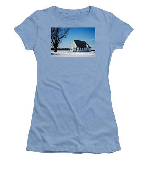 Little Church On The Prairie Women's T-Shirt (Junior Cut) by Luther Fine Art