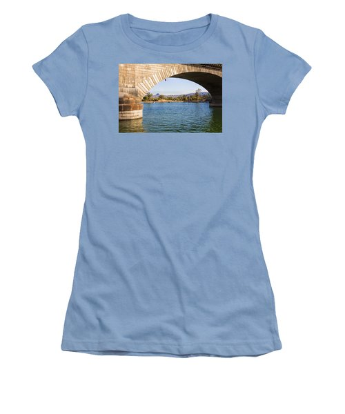 London Bridge At Lake Havasu City Women's T-Shirt (Junior Cut) by Fred Larson