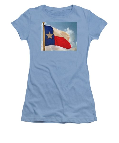 Lone Star Flag Women's T-Shirt (Athletic Fit)