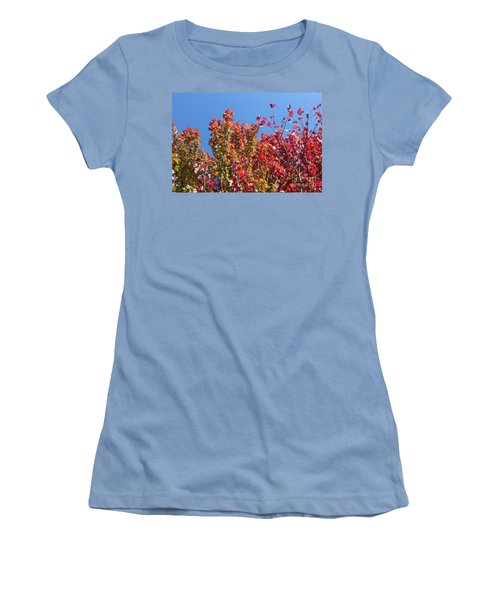 Women's T-Shirt (Junior Cut) featuring the photograph Looking Upward by Debbie Hart