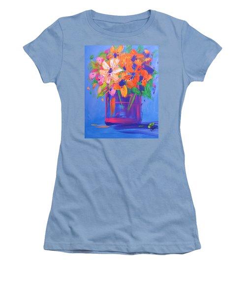 Loosey Goosey Flowers Women's T-Shirt (Junior Cut) by Terri Einer