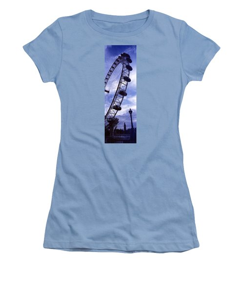 Low Angle View Of The London Eye, Big Women's T-Shirt (Junior Cut) by Panoramic Images
