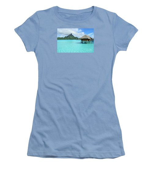 Luxury Overwater Vacation Resort On Bora Bora Island Women's T-Shirt (Junior Cut)