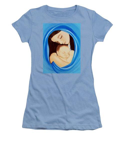 Madonna Of The Sea Women's T-Shirt (Junior Cut) by Sophia Schmierer