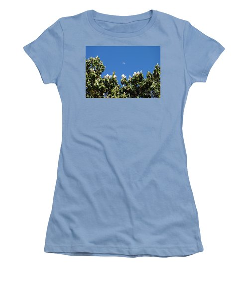 Women's T-Shirt (Junior Cut) featuring the photograph Magnolia Moon by Meghan at FireBonnet Art
