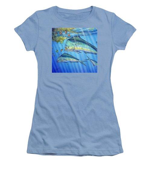 Mahi Mahi In Sargassum Women's T-Shirt (Athletic Fit)
