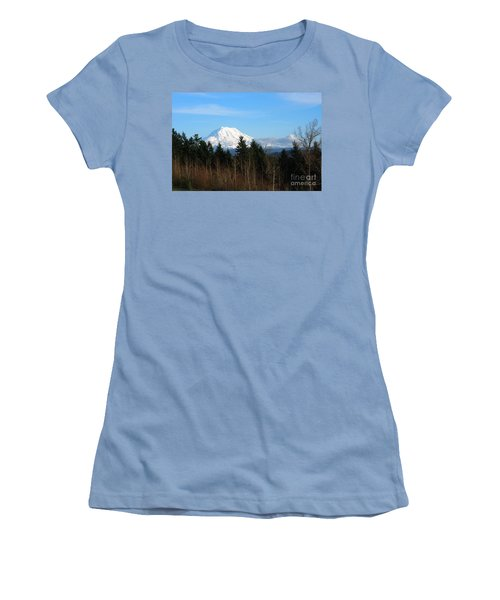 Majestic Mount Rainier Women's T-Shirt (Athletic Fit)
