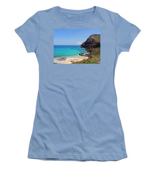 Women's T-Shirt (Junior Cut) featuring the photograph Makapu'u Beach  by Kristine Merc