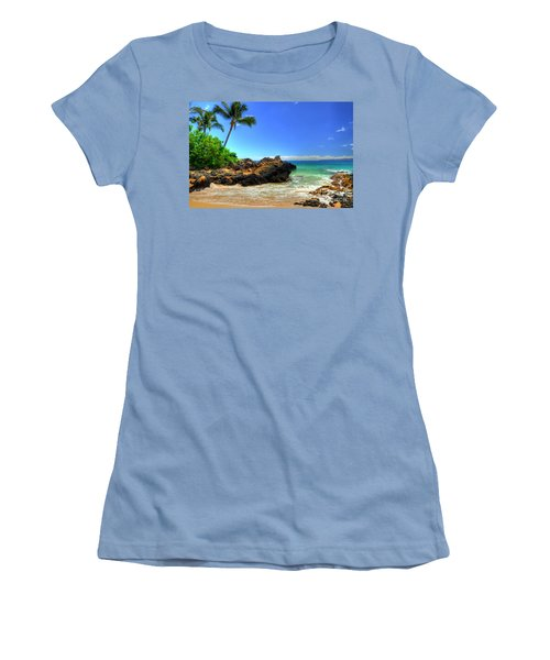 Makena Secret Cove Paako Beach Women's T-Shirt (Athletic Fit)