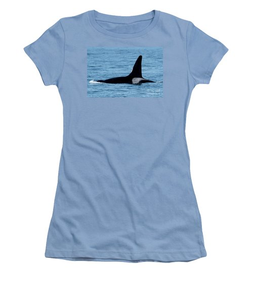 Women's T-Shirt (Junior Cut) featuring the photograph Male Orca Killer Whale In Monterey Bay 2013 by California Views Mr Pat Hathaway Archives