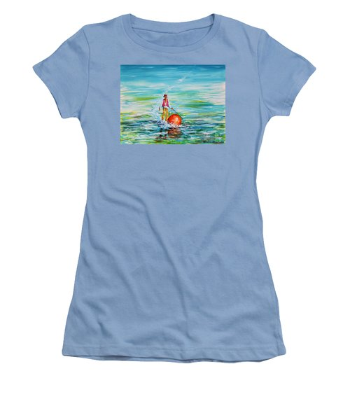 Strolling On The Water Women's T-Shirt (Athletic Fit)