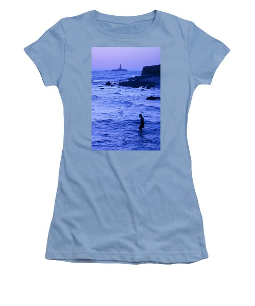 Man And Lighthouse Women's T-Shirt (Athletic Fit)