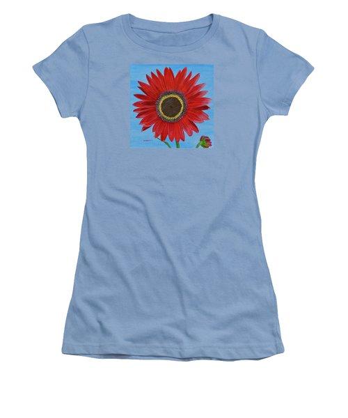 Mandy's Burgundy Beauty Women's T-Shirt (Junior Cut) by Donna  Manaraze
