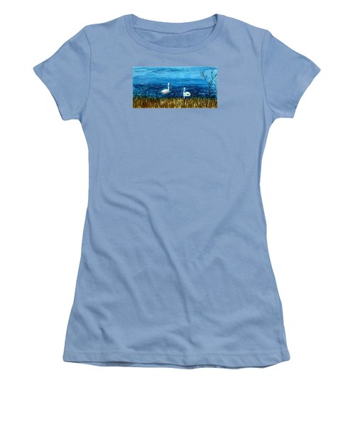 Marion Lake Swans Women's T-Shirt (Athletic Fit)