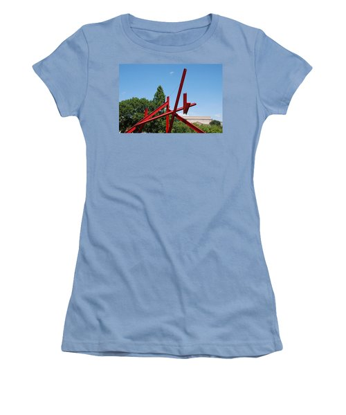 Mark Di Suvero Steel Beam Sculpture Women's T-Shirt (Athletic Fit)