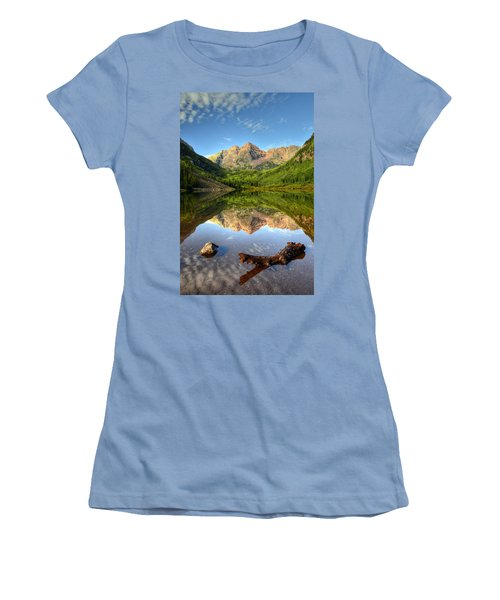 Maroon Bells And Maroon Lake Women's T-Shirt (Athletic Fit)