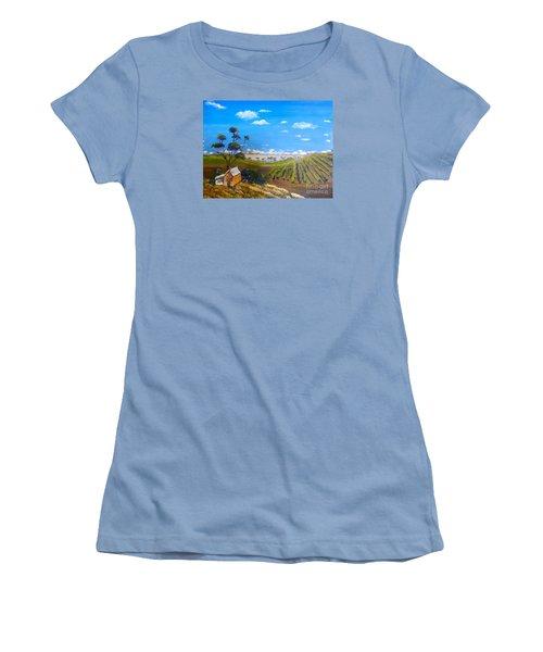 Mclarren Vale Vine Yards Women's T-Shirt (Junior Cut) by Pamela  Meredith